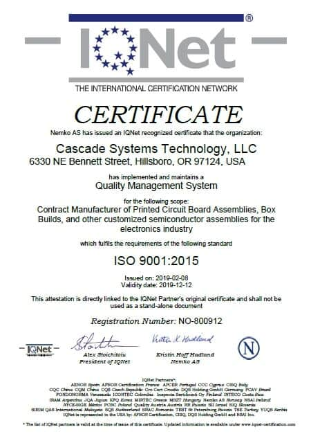 ISO Certificate for design for quality and excellence